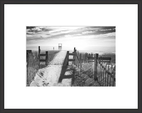 Black And White Beach Pictures Framed