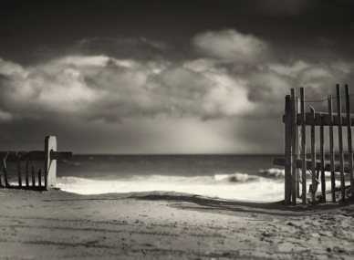 Black and White Photography - Beach Fence fine art prints