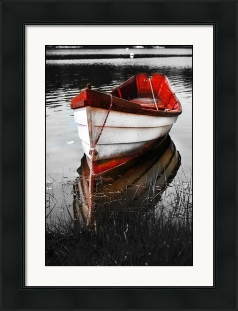 Recently Sold Prints: red boat - canvas print  dapixara.com