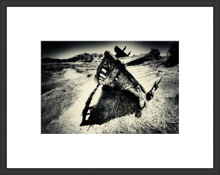 black and white photography shipwreck