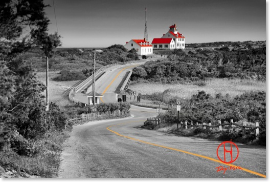 Coast Guard Beach. Coast Guard beach and Coast Guard Station, Cape Cod National Seashore. black-and-white selective coloring print