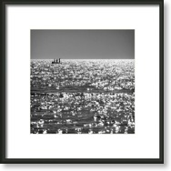 Black and White Photography. Black and White Photography: Three Friends. Framed Square Print.