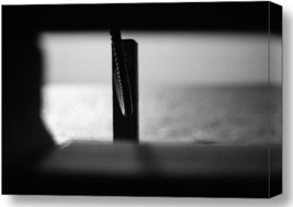 Black and White Photography. Black and White Photography. Framed Ocean. Canvas Print.