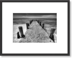 framed photo print black and white photo old pier