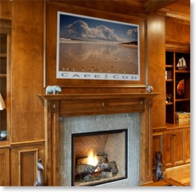 Wellfleet Cape Cod. Realism landscape posters. Cape Cod beaches, Wellfleet. Beach posters.