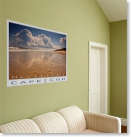 Wellfleet. Realism landscape posters. Cape Cod Wellfleet.