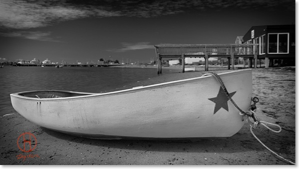 white-boat-black-and-white. White Boat black and white photography by DAPIXARA