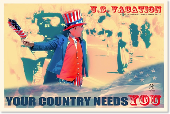 Your Country Needs You. Vintage travel poster
