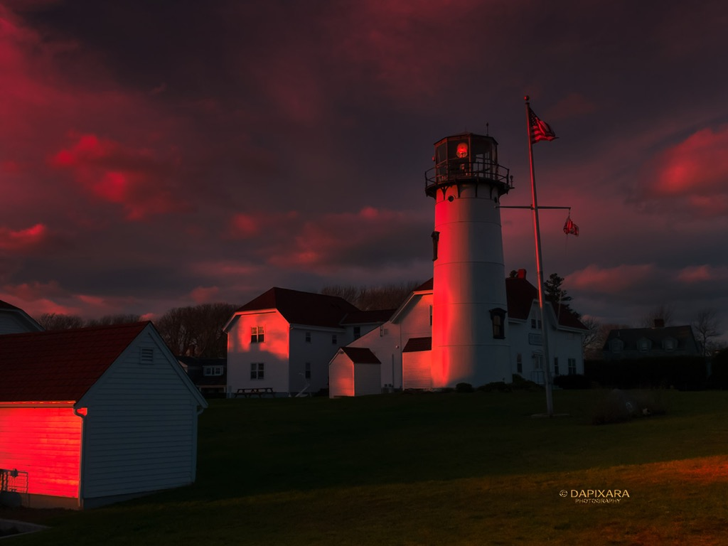 Today's Sunset and Beautiful Pre-Storm Clouds Over Chatham Lighthouse | Amazingly Beautiful Nature And Travel Photography Of Cape Cod National Seashore