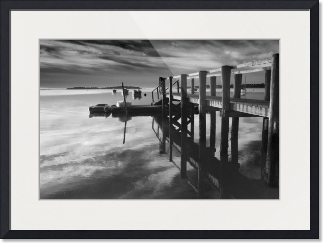 Black And White Pier Fine Art Print