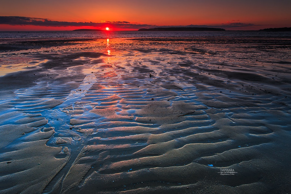 Cape Cod Low Tide Part - 25: Spectacular Beach Sunset Today At Low Tide. Indian Neck Beach, Wellfleet Cape  Cod.