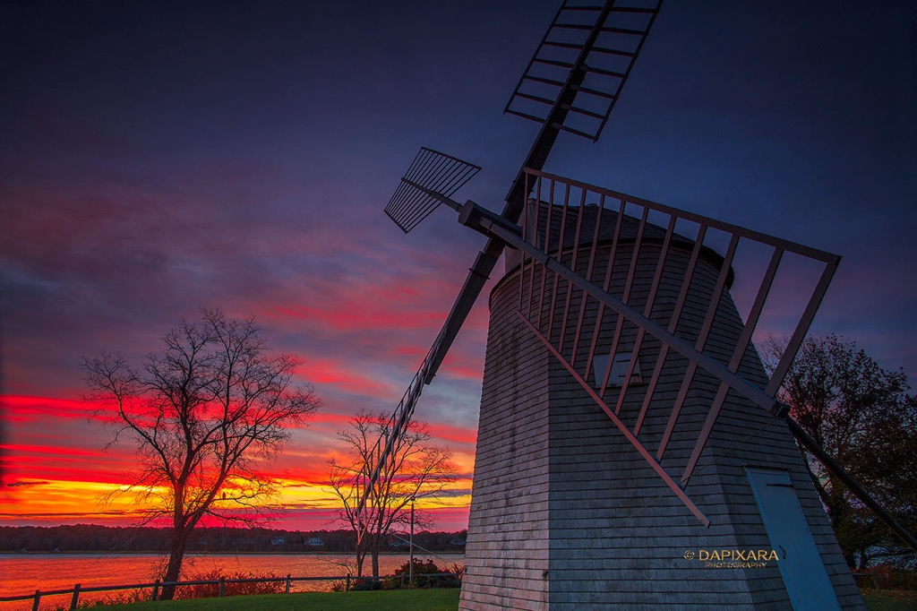 Today's Shot: The Orleans Windmill at Sunrise | Amazingly Beautiful Nature And Travel Photography Of Cape Cod National Seashore