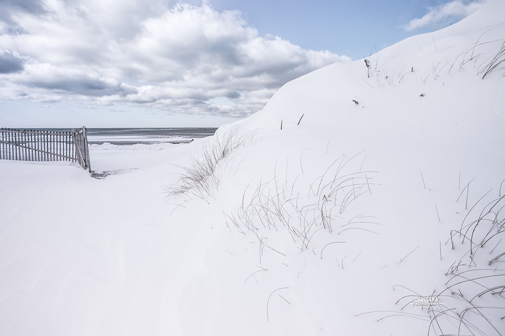 Amazing Snow Today At Skaket Beach In Orleans Cape Cod Amazingly