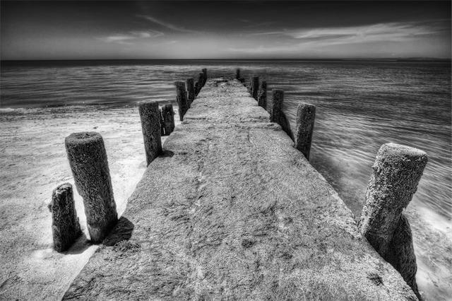 Old pier contemporary landscape photography