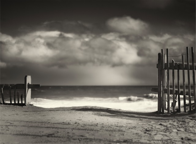 Black and white photography beach fence wellfleet cape cod