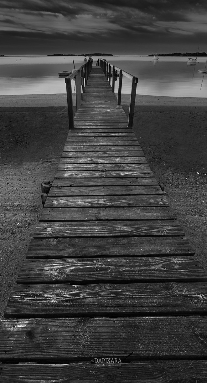It was a little after six in the morning black and white photography cape