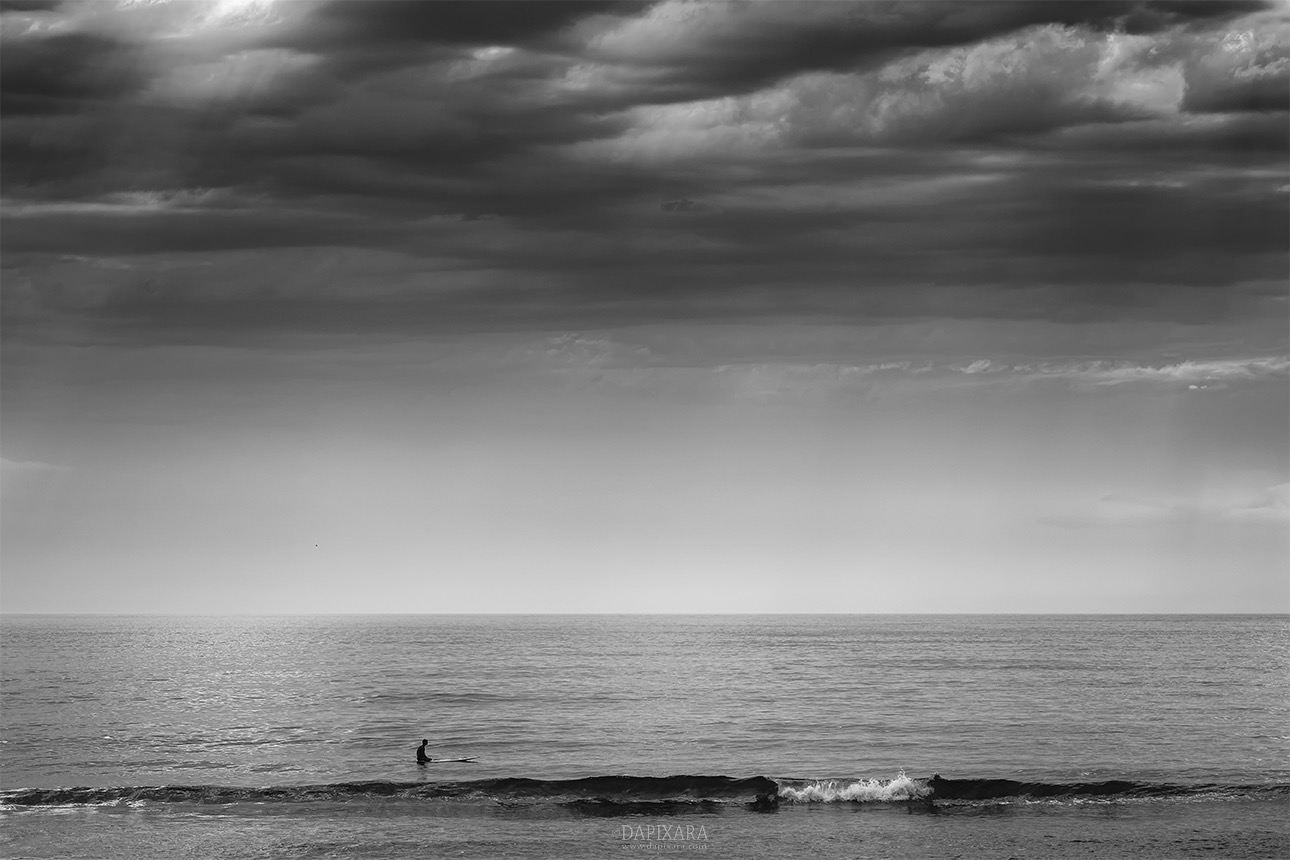 Cape cod surfer black and white photo by dapixara