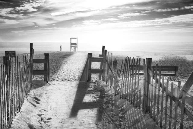 Black and white beach photography for sale
