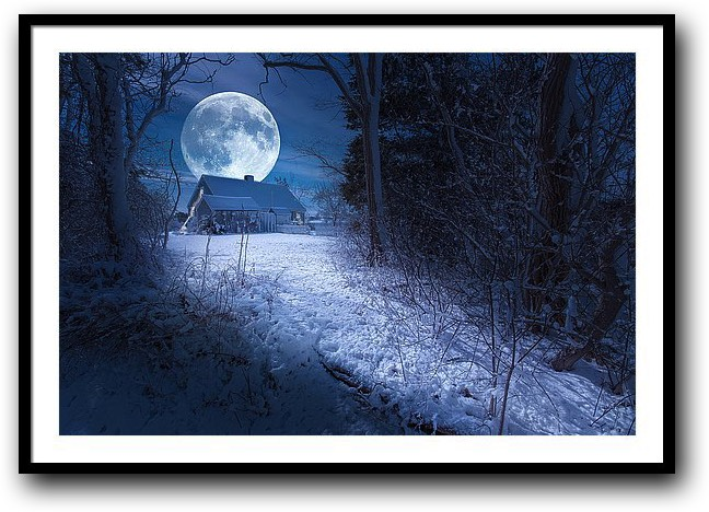 Prints For Sale - Full Moon