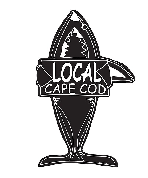 cape cod shark. shop cape cod shark stickers.