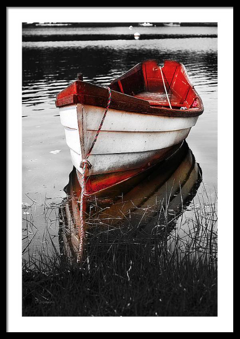 Red Boat Framed Art Print